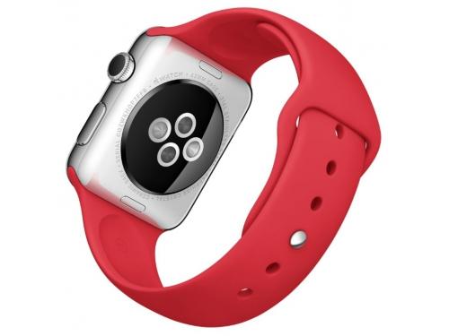 Умные часы Apple Watch with Sport Band нержавеющая сталь / красные, вид 3