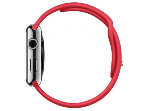 Умные часы Apple Watch with Sport Band нержавеющая сталь / красные, вид 4
