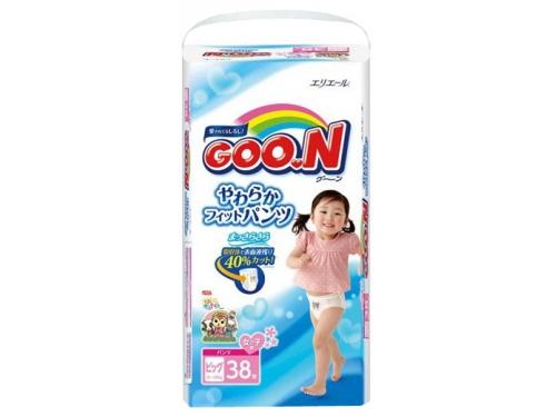 Подгузник Goon 12-20 кг (38 шт) BIG для девочек (трусики), вид 1