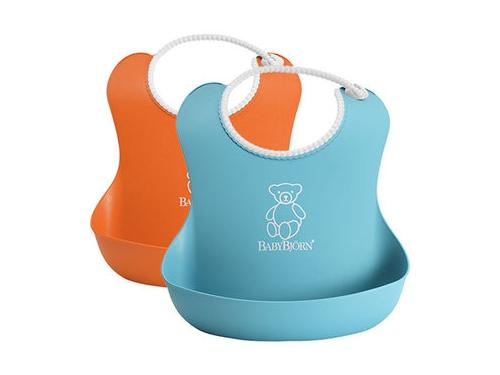 Товар для детей Нагрудник BabyBjorn Оранжевый/бирюзовый (2 шт.), вид 1