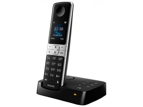 Радиотелефон Philips D6351B/51, Чёрный и серебристый, вид 1