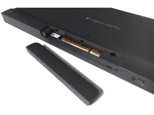 Клавиатура Logitech K400 Plus (радиоканал, сенсорная панель), вид 6