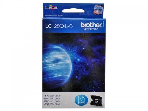 Картридж Brother LC1280XLC Голубой 1200 стр., вид 2