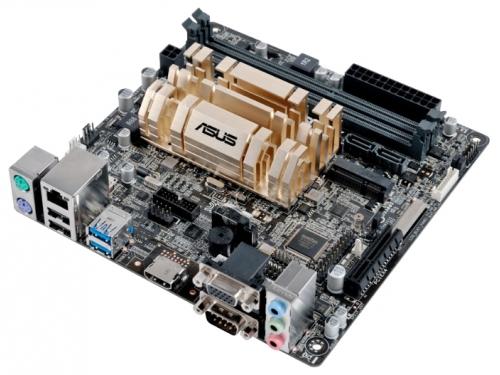 ����������� ����� ASUS N3050I-C Intel Celeron N3050 (1.6 GHz), miniITX, 2xDIMM DDR3 VGA/HDMI COM, ��� 1