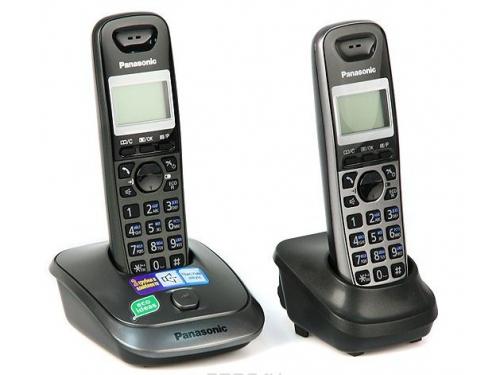 Радиотелефон Panasonic KX-TG2512RU1, титан-черный, вид 1