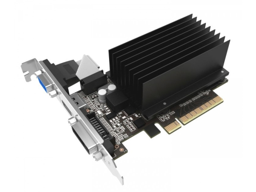 Видеокарта GeForce Palit GeForce GT 710 954Mhz PCI-E 2.0 2048Mb 1600Mhz 64 bit DVI HDMI HDCP Silent, вид 1