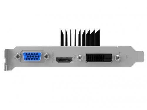 Видеокарта GeForce Palit GeForce GT 710 954Mhz PCI-E 2.0 2048Mb 1600Mhz 64 bit DVI HDMI HDCP Silent, вид 3