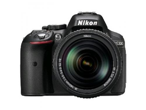 Цифровой фотоаппарат Nikon D5300 KIT (AF-S DX 18-105mm VR) Black VBA370K004