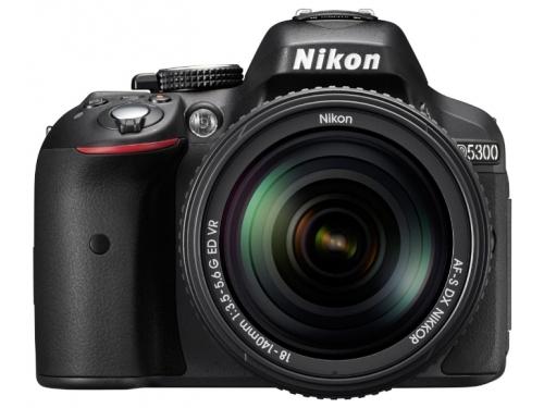 Цифровой фотоаппарат Nikon D5300 KIT (AF-S DX 18-105mm VR) Black, вид 2