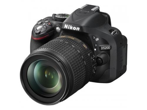 Цифровой фотоаппарат Nikon D5200 KitT+18-105 VR Чёрный, вид 1