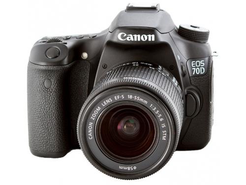 Цифровой фотоаппарат Canon EOS 70D 18-135IS Kit , черный, вид 1