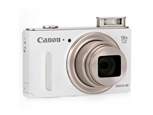 Цифровой фотоаппарат Canon PowerShot SX610HS белый, вид 1