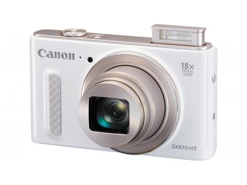 Цифровой фотоаппарат Canon PowerShot SX610HS белый, вид 2