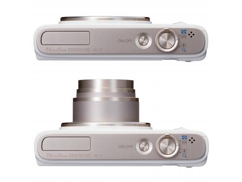 Цифровой фотоаппарат Canon PowerShot SX610HS белый, вид 3
