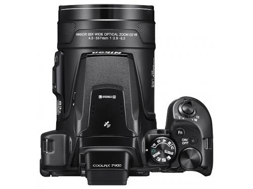 Цифровой фотоаппарат Nikon Coolpix P900, черный, вид 4