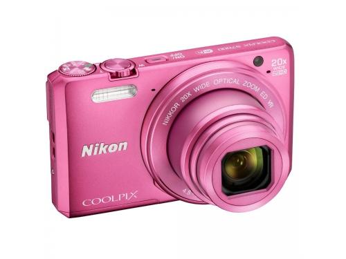 Цифровой фотоаппарат Nikon Coolpix S7000, розовый, вид 1