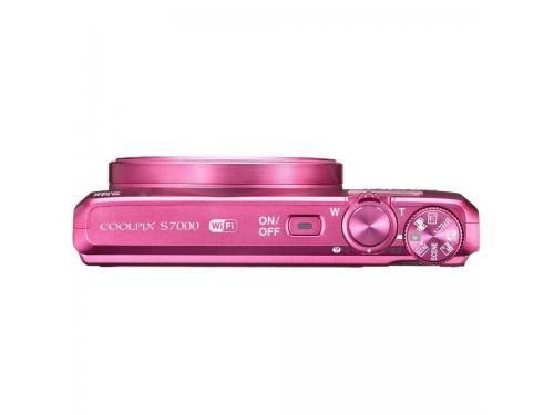 Цифровой фотоаппарат Nikon Coolpix S7000, розовый, вид 5
