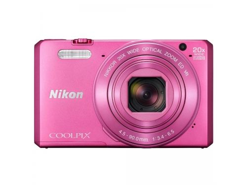 Цифровой фотоаппарат Nikon Coolpix S7000, розовый, вид 2