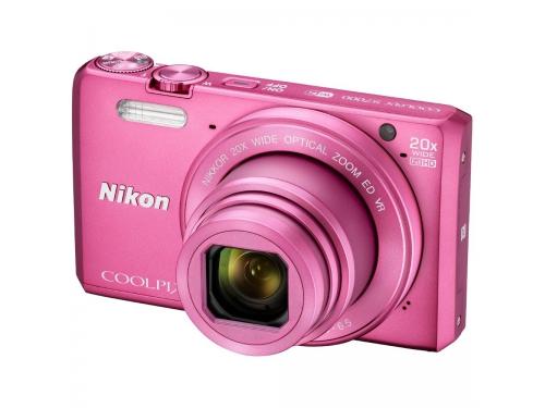 Цифровой фотоаппарат Nikon Coolpix S7000, розовый, вид 3