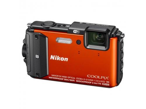 Цифровой фотоаппарат Nikon Coolpix AW130 Orange, вид 1