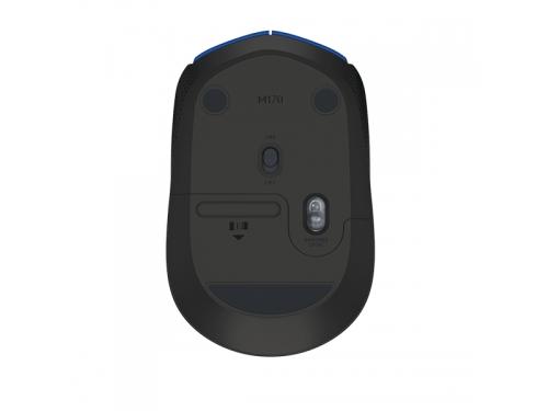 Мышка Logitech M171, беспроводная, USB, чёрная, вид 3