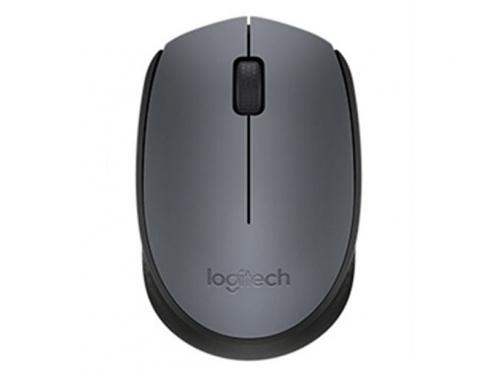 Мышка Logitech M170, беспроводная, USB, серая, вид 2