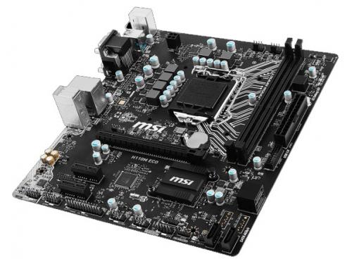 Материнская плата MSI H110M ECO Soc-1151 H110 DDR4 mATX SATA3  LAN-Gbt USB3.0 DVi/VGA/HDMI, вид 2