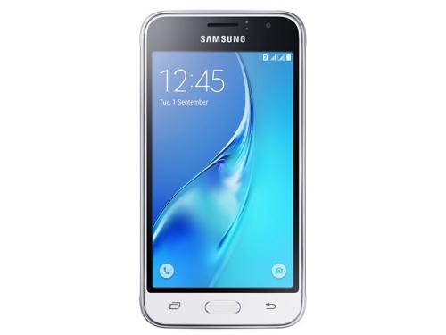 Смартфон Samsung Galaxy J1 (2016) SM-J120F/DS, белый, вид 2