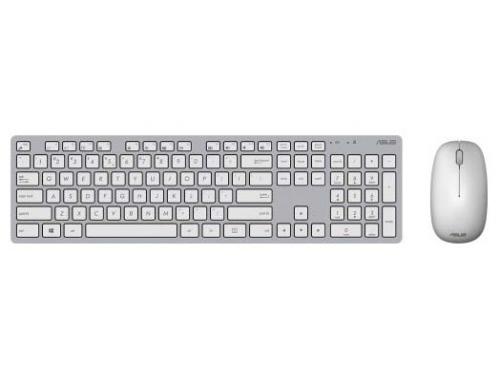 Комплект Клавиатура + мышь Asus W5000, серый/белый USB, вид 1