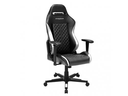 Игровое компьютерное кресло DXRacer Drifting OH/DF73/NW, чёрно-белое, вид 2