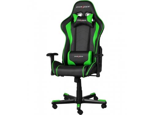 Игровое компьютерное кресло DxRacer OH/FE08/NE черное/зеленое, вид 1