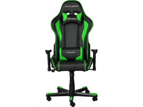 Игровое компьютерное кресло DxRacer OH/FE08/NE черное/зеленое, вид 2