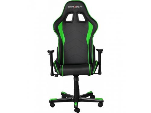 Игровое компьютерное кресло DxRacer OH/FE08/NE черное/зеленое, вид 3