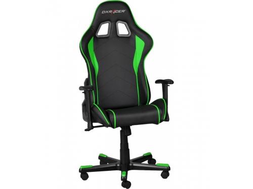 Игровое компьютерное кресло DxRacer OH/FE08/NE черное/зеленое, вид 5