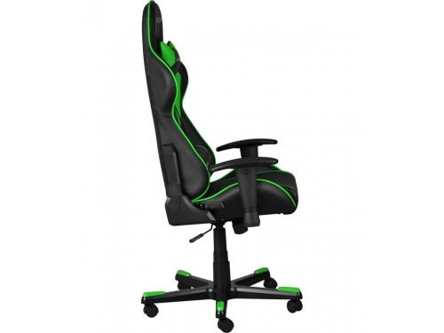 Игровое компьютерное кресло DxRacer OH/FE08/NE черное/зеленое, вид 7
