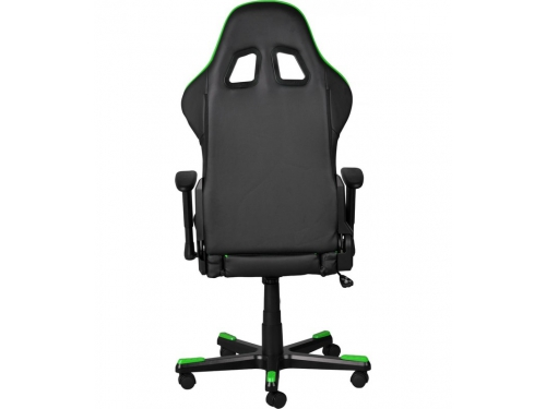 Игровое компьютерное кресло DxRacer OH/FE08/NE черное/зеленое, вид 8