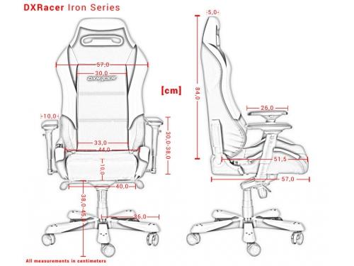 Компьютерное кресло DXRacer OH/IS11/NR, черно-красное, вид 10
