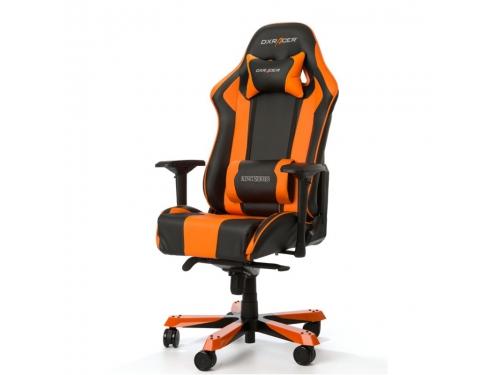 Игровое компьютерное кресло DXRacer King OH/KS06/NO, черно-оранжевое, вид 1