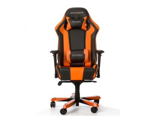 Игровое компьютерное кресло DXRacer King OH/KS06/NO, черно-оранжевое, вид 2