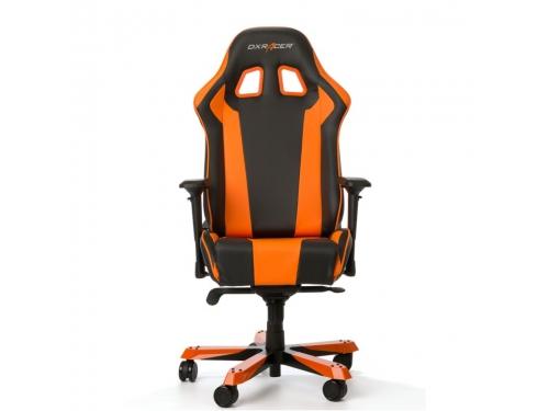 Игровое компьютерное кресло DXRacer King OH/KS06/NO, черно-оранжевое, вид 3