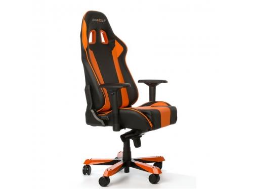 Игровое компьютерное кресло DXRacer King OH/KS06/NO, черно-оранжевое, вид 4