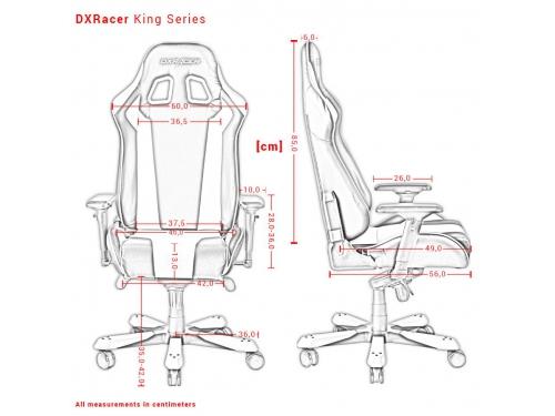 Игровое компьютерное кресло DXRacer King OH/KS06/NO, черно-оранжевое, вид 8
