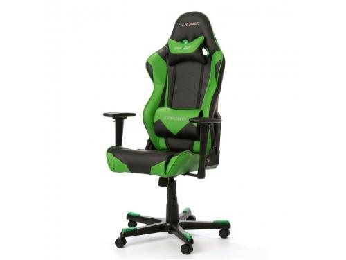Игровое компьютерное кресло DxRacer Racing OH/RE0/NE черное/зеленое, вид 1