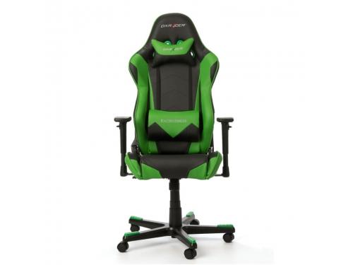 Игровое компьютерное кресло DxRacer Racing OH/RE0/NE черное/зеленое, вид 2