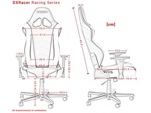 Игровое компьютерное кресло DxRacer Racing OH/RE0/NE черное/зеленое, вид 8