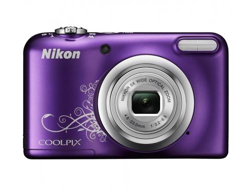 Цифровой фотоаппарат Nikon Coolpix A10, фиолетовый с рисунком, вид 1
