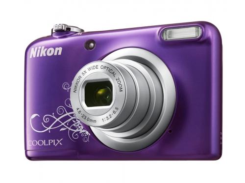 Цифровой фотоаппарат Nikon Coolpix A10, фиолетовый с рисунком, вид 3