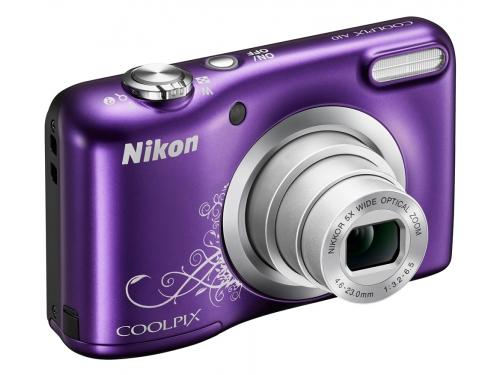 Цифровой фотоаппарат Nikon Coolpix A10, фиолетовый с рисунком, вид 5