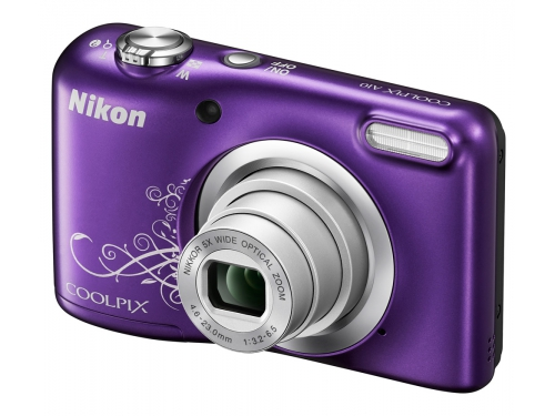 Цифровой фотоаппарат Nikon Coolpix A10, фиолетовый с рисунком, вид 4