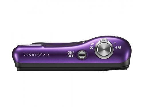 Цифровой фотоаппарат Nikon Coolpix A10, фиолетовый с рисунком, вид 2